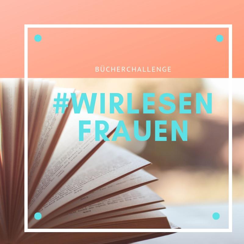 """Ein Aufgeschlagenes Buch, darüber steht """"Wir lesen Frauen"""""""